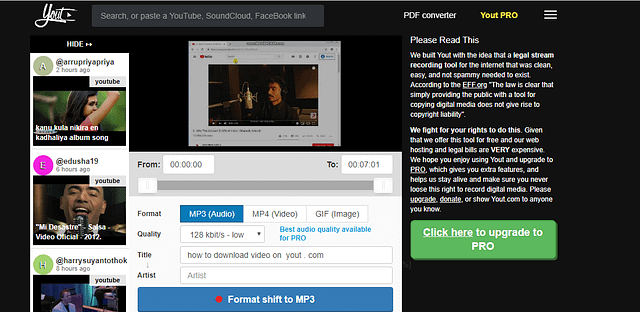 How to download content from other source like Youtube