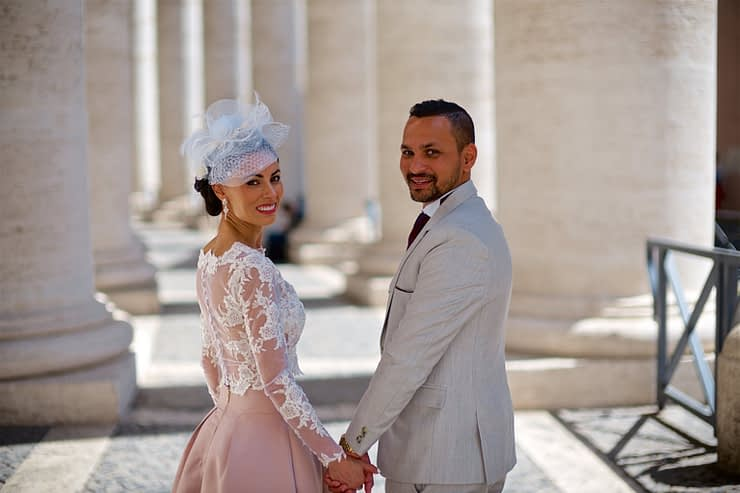 Mike wedding photography at church Rome