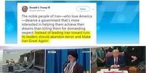 Trump calls out Irans Ayatollah Abandon terror and Make Iran Great Again