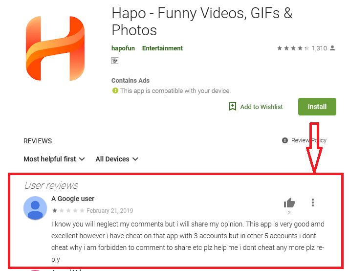Hapo community app user reviews