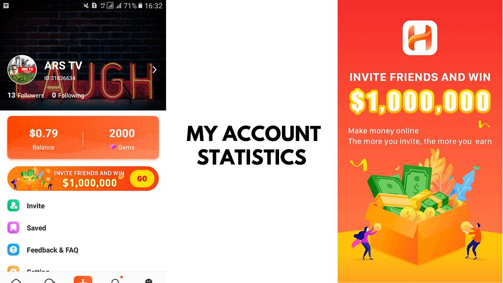 Hapo App Review_ My Account Statistics
