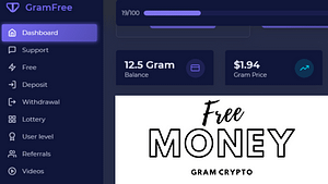 Gramfree.top Review: Is Scam or Legit? How to earn free Gram Cryptocurrency?