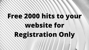 free 2000 visitors to your website - VeryTraffic Review: Free Website Traffic Only For Registration - Limited Time Opportunity