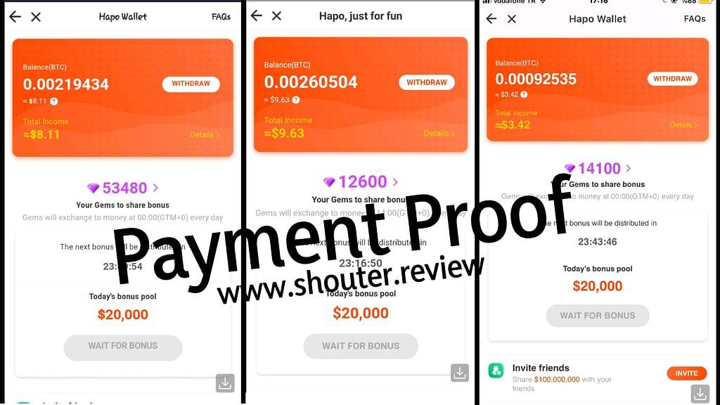 Hapo App Review_ Hapoapp payment proof
